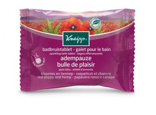 Kneipp Sparkling Bath Tablet Pure Bliss Red Poppy Hemp
