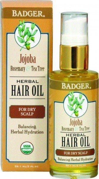 Badger Hair Oil Jojoba For Dry Scalp (59.1ml)