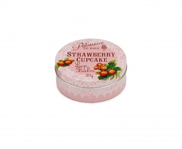 Patisserie de Bain Lip Balm Strawberry Cupcake Tin (20g)