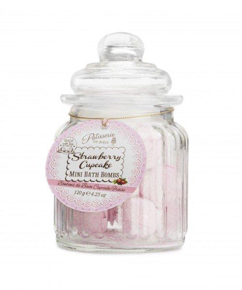 Patisserie de Bain Mini Bath Bombs Strawberry Cupcake Sweetie Jar