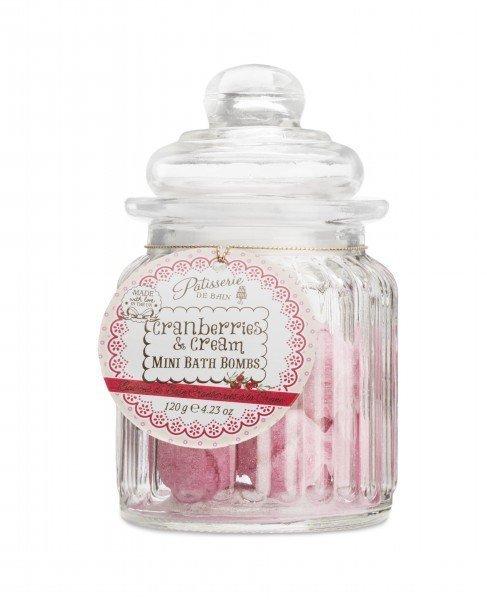Patisserie de Bain Mini Bath Bombs Cranberries  Cream Sweetie Jar