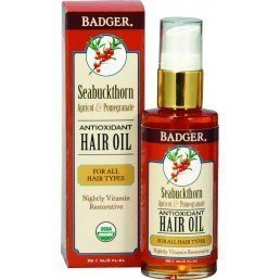 Badger Hair Oil Seabuckthorn Antioxidant All Hair Types (59.1ml)