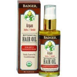 Badger Hair Oil Argan For Dry Damaged Hair