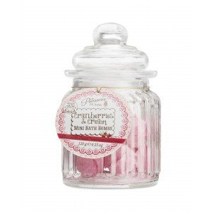 Patisserie de Bain Mini Bath Bombs Cranberries  Cream Sweetie Jar