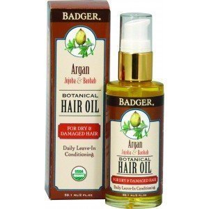 Badger Hair Oil Argan For Dry  Damaged Hair (59.1ml)