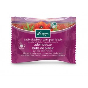 Kneipp Sparkling Bath Tablet Pure Bliss Red Poppy  Hemp (80g)